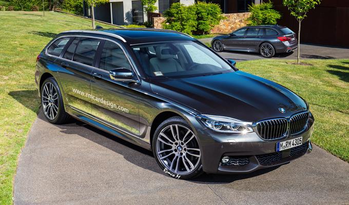 BMW Serie 5 Touring MY 2017: un'altra ipotesi del nuovo design [RENDERING]