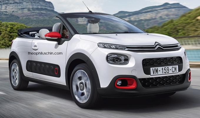 Citroën C3 MY 2016: potrebbe avere questo aspetto una variante Cabriolet? [RENDERING]