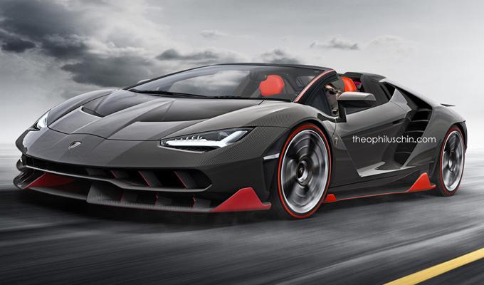Lamborghini Centenario Roadster: la decappottabile potrebbe essere così? [RENDERING]