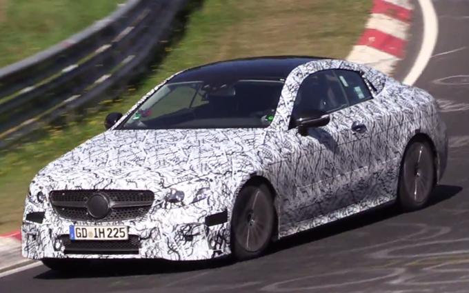 Mercedes Classe E Coupè MY 2018: nuovi avvistamenti al Nurburgring [VIDEO SPIA]