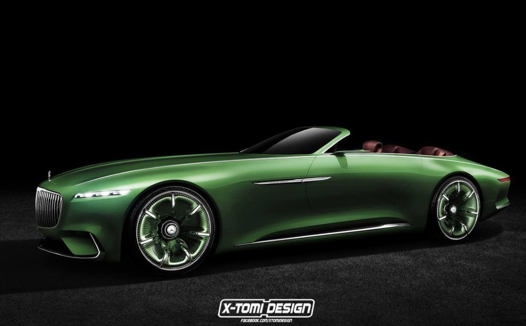 Mercedes-Maybach Vision 6 Concept: ecco come sarebbe in versione cabrio [RENDERING]