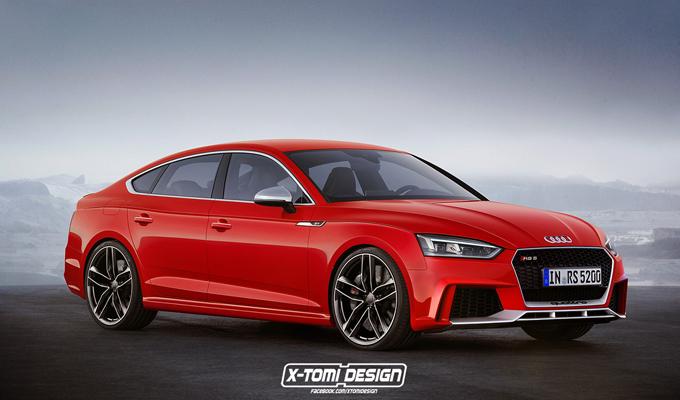 Nuova Audi RS5 Sportback: immaginato l'eventuale aspetto [RENDERING]
