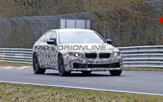 BMW M5 MY 2017: alla ricerca del limite al Nurburgring [VIDEO SPIA]
