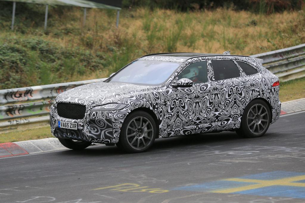 Jaguar: la F-Pace SVR gira al Nurburgring [FOTO SPIA]