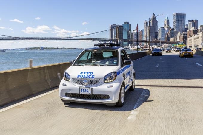 smart fortwo per la polizia di New York