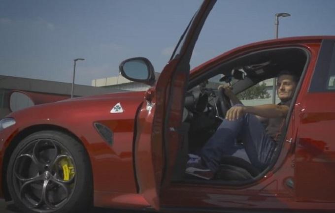Alfa Romeo Giulia Quadrifoglio conquista anche Giancarlo Fisichella [VIDEO]