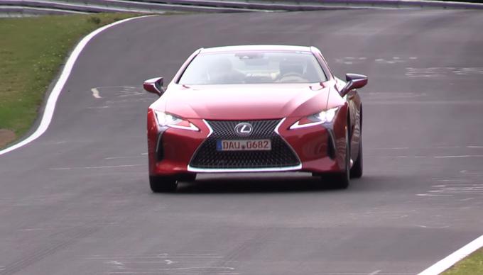 Lexus LC 500: la coupè in azione al Nurburgring [VIDEO]