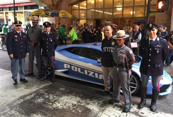 Lamborghini Huracan della Polizia a New York per il Columbus Day