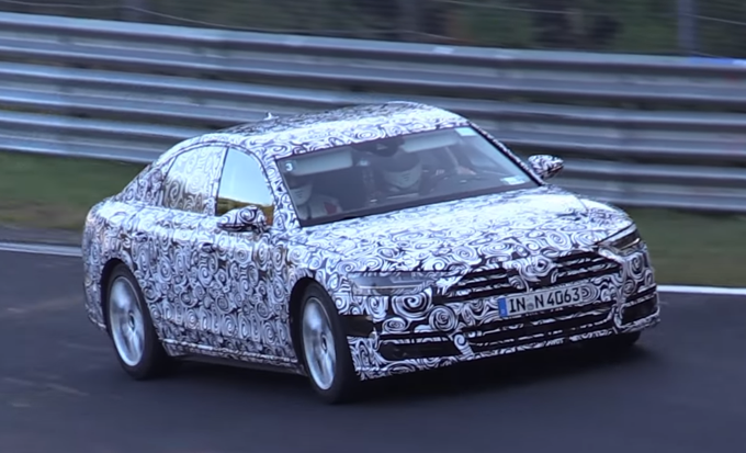 Audi A8 MY 2018: test al Nurburgring per la quarta generazione [VIDEO SPIA]