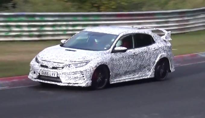 Honda Civic Type R: in azione sul manto del Nurburgring [VIDEO SPIA]