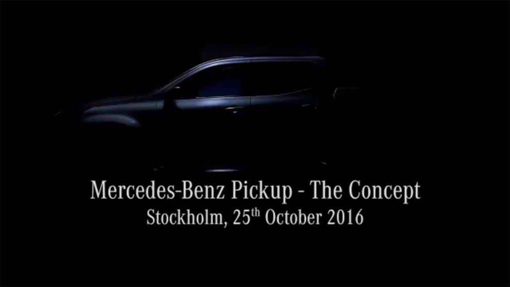 Mercedes pick-up sta arrivando: la presentazione [LIVE STREAMING]