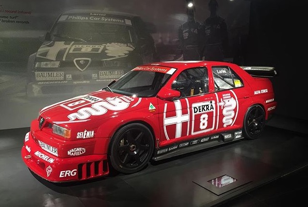 Giancarlo Fisichella in visita al Museo Storico Alfa Romeo [VIDEO]