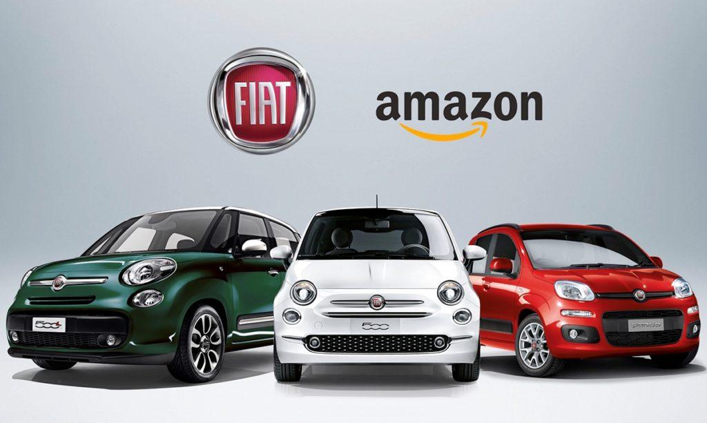 Fca vende auto online, accordo commerciale con Amazon