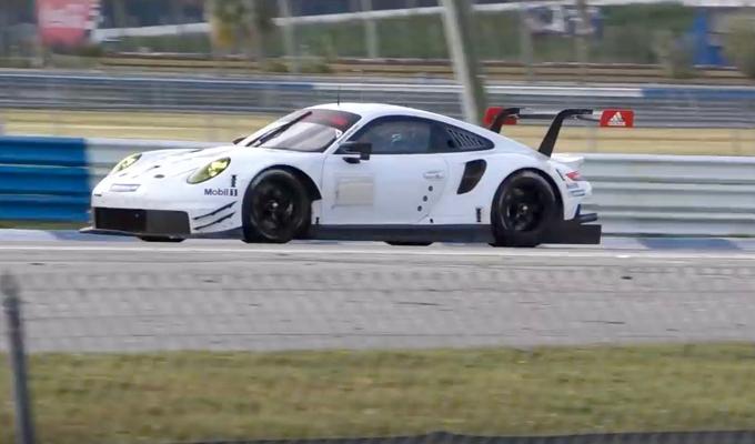 Porsche 911 RSR MY 2017: alcuni esemplari in fase di sviluppo ripresi a Sebring [VIDEO]