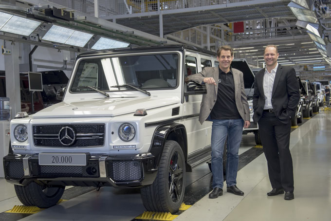 Mercedes Classe G: raggiunta la soglia delle 20 mila unità all'anno
