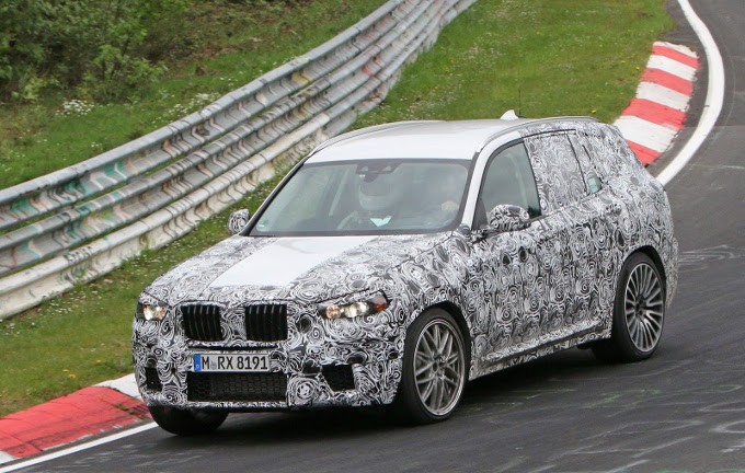 BMW X3 M MY 2018: muletto al Nurburgring [VIDEO SPIA]