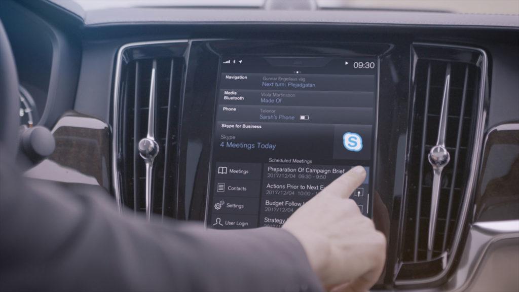 Volvo: Skype for Business disponibile sulla Serie 90