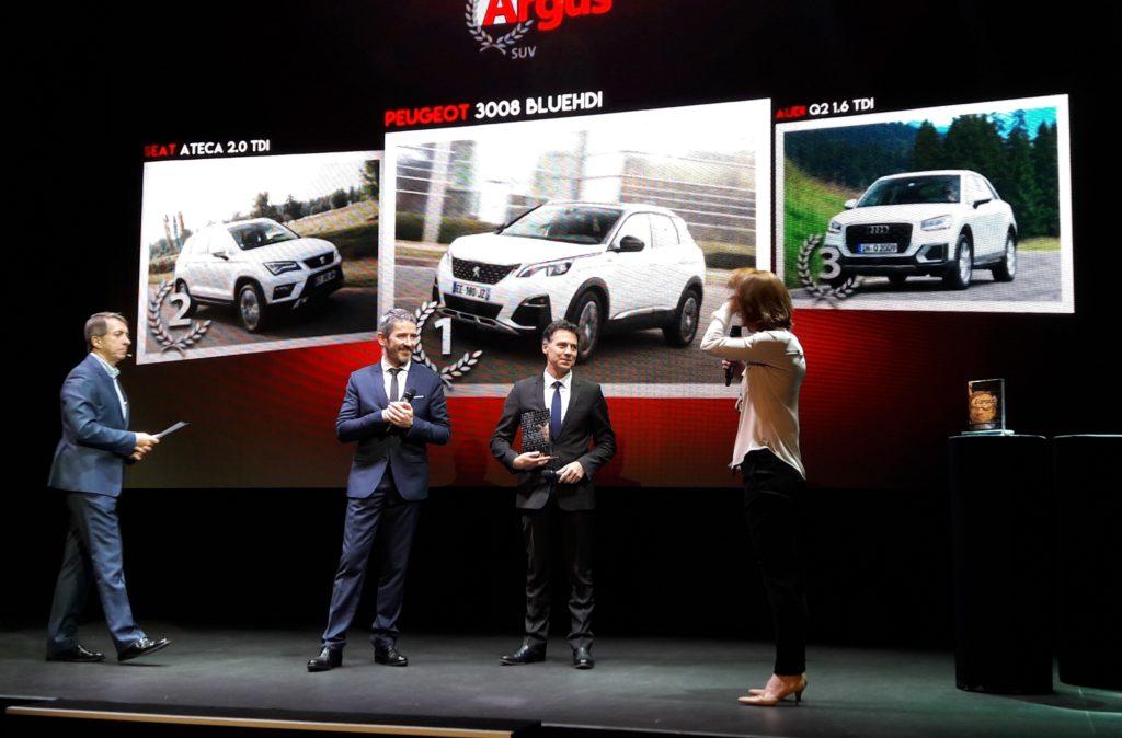 "Peugeot fa tris ai ""Trofei Argus 2017"": premiato il nuovo SUV 3008"