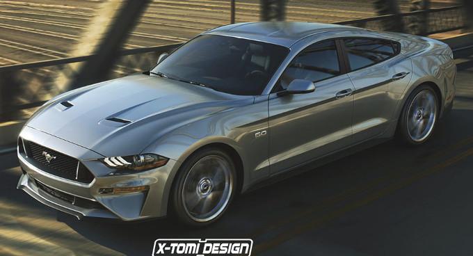 Ford Mustang MY 2018: ecco la 4 porte della più celebre Muscle Car [RENDER]