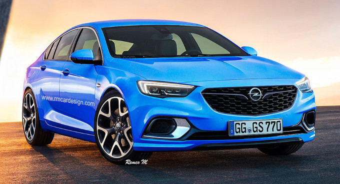nuova opel insignia grand sport opc my 2017 rendering. Black Bedroom Furniture Sets. Home Design Ideas
