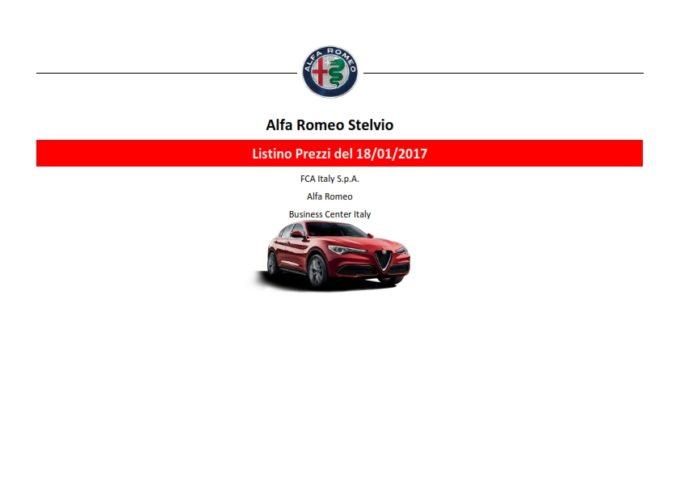 Alfa Romeo Stelvio First Edition: ecco il listino ufficiale [FOTO]