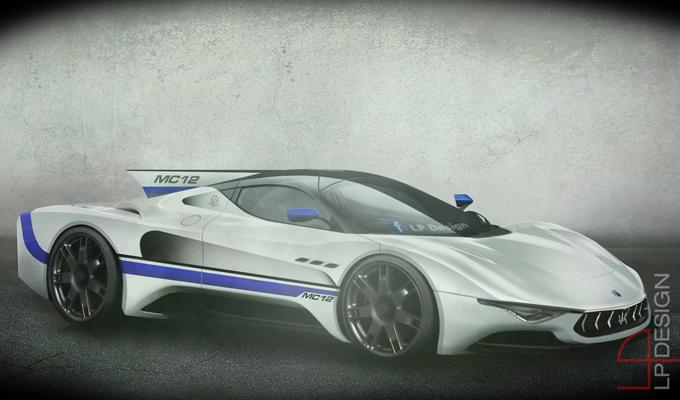Maserati MC12 Concept: un'immaginaria erede della vittoriosa supercar del Tridente [RENDERING]