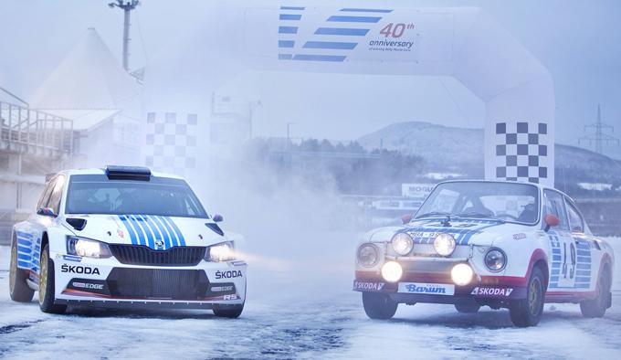 Skoda Fabia R5: livrea celebrativa per il 40° anniversario dalla prima vittoria al Rallye di Monte Carlo