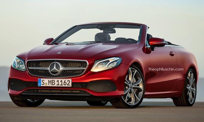 Mercedes Classe E Cabrio MY 2018: pronta per il Salone di Ginevra [RENDERING]