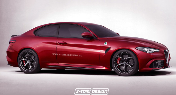 Alfa Romeo Giulia Coupè: potrebbe essere presentata a Ginevra [RENDER]