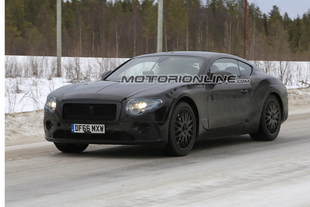 Bentley Continental GT: il MY 2018 alle prese coi test drive [FOTO SPIA]