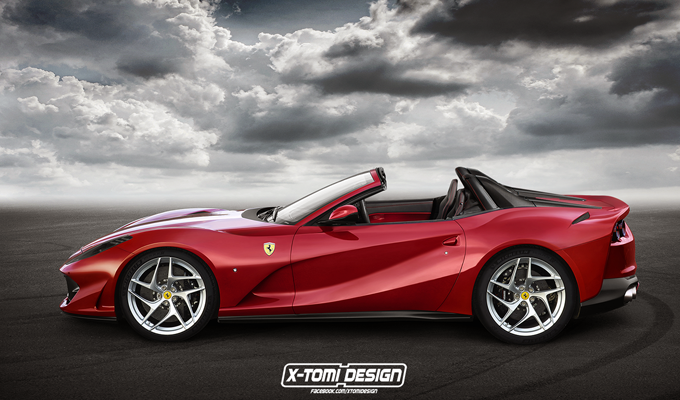 Ferrari 812 Superfast: un'idea delle visionarie Spider e Shooting Brake [RENDERING]