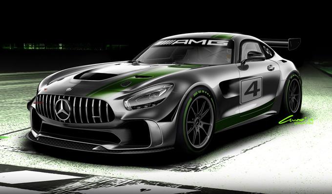 Mercedes AMG GT4: debutterà entro la fine dell'anno