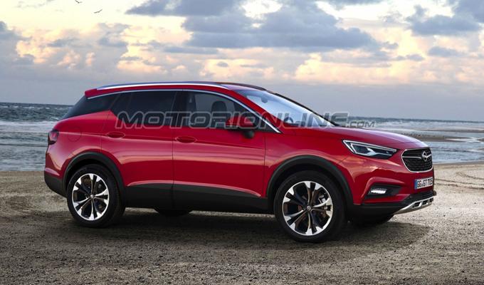 Opel Grandland X: come potrebbe essere l'altro veicolo siglato X [RENDERING]
