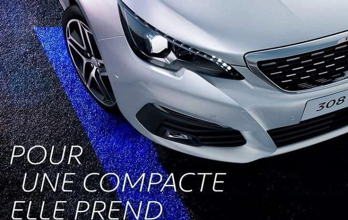 Peugeot 308, anticipazione sul restyling con un angolo dell'anteriore [TEASER]