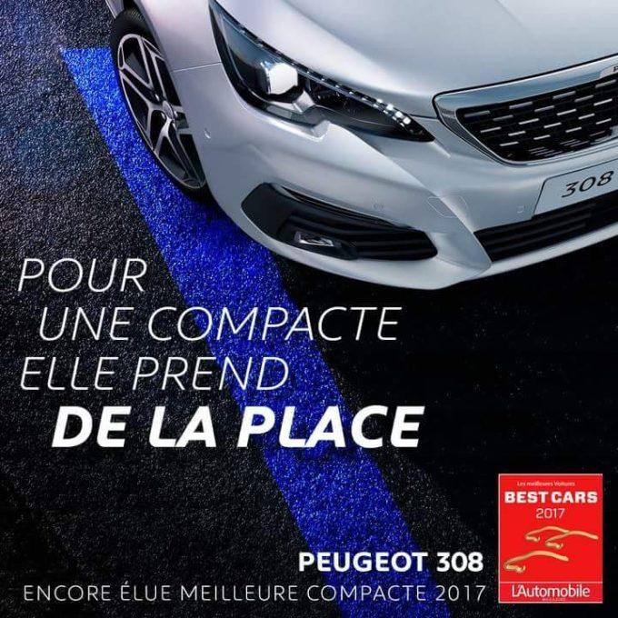Photo officielle Peugeot 308 II restylée 2017