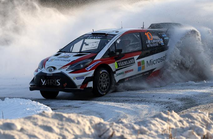 WRC, Toyota: primo successo stagionale al Rally di Svezia
