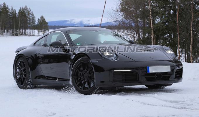 Porsche 911 MY 2019: nuove immagini sulla crescita del progetto [VIDEO SPIA]