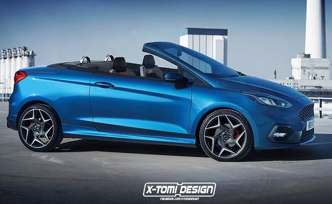 Nuova Ford Fiesta ST: proposta stilistica in versione cabrio [RENDERING]