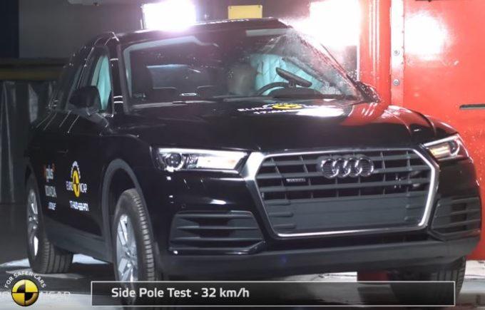 Nuova Audi Q5 premiata con le cinque stelle Euro NCAP [VIDEO]