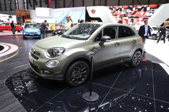 fiat 500 x s design il crossover compatto sportivo a ginevra 2017 foto live. Black Bedroom Furniture Sets. Home Design Ideas