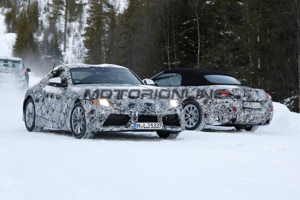 Nuove Toyota Supra e BMW Z5 immortalate insieme sulla neve [FOTO e VIDEO SPIA]