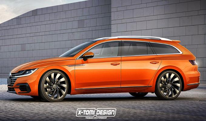 Nuova Volkswagen Arteon: così è immaginata la variante SW [RENDERING]