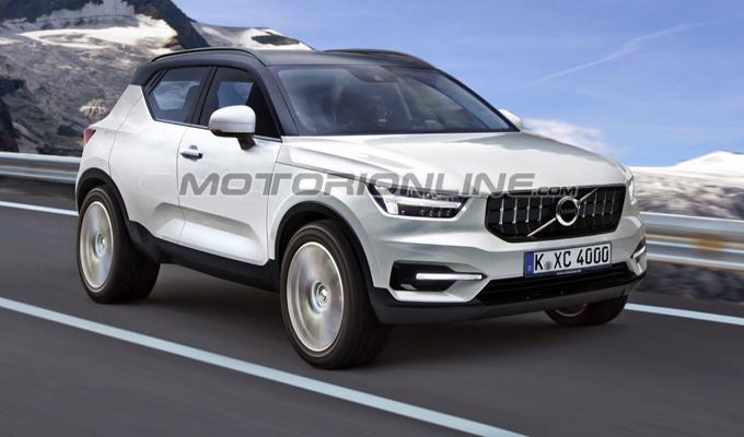 Volvo XC40: un'idea del prossimo SUV compatto della casa svedese [RENDERING]