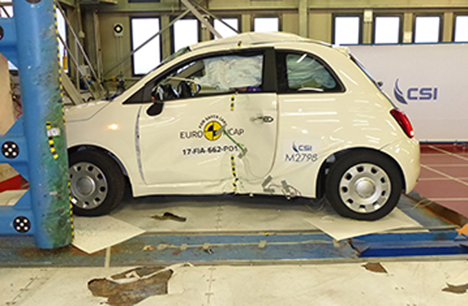 Fiat 500: il restyling ottiene solamente tre stelle Euro NCAP [VIDEO]