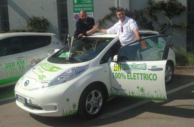 Mondiale e-Rally Cup, Nissan Leaf: trionfo all'Eco Rally di Sanremo