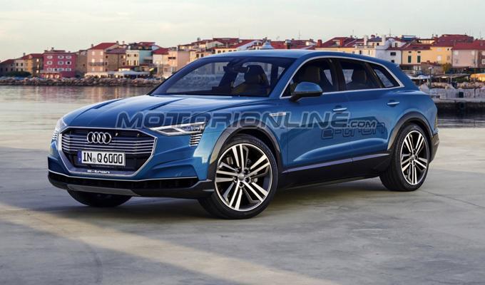 Audi Q6 e-tron: l'ipotizzato aspetto del SUV elettrico degli Anelli [RENDERING]