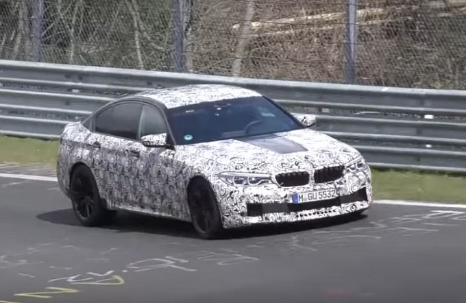 Nuova BMW M5: muletto a tutta velocità filmato al Nürburgring [VIDEO SPIA]