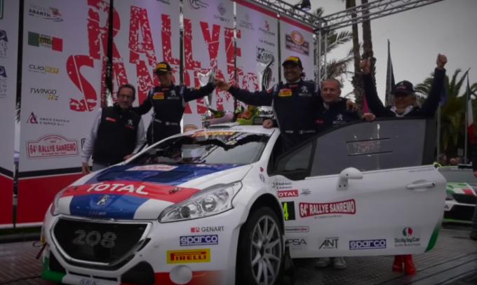La Peugeot 208 T16 è la regina del Rallye di Sanremo 2017 [VIDEO]
