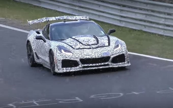 Nuova Chevrolet Corvette ZR1 immortalata durante i test al Nürburgring [VIDEO SPIA]