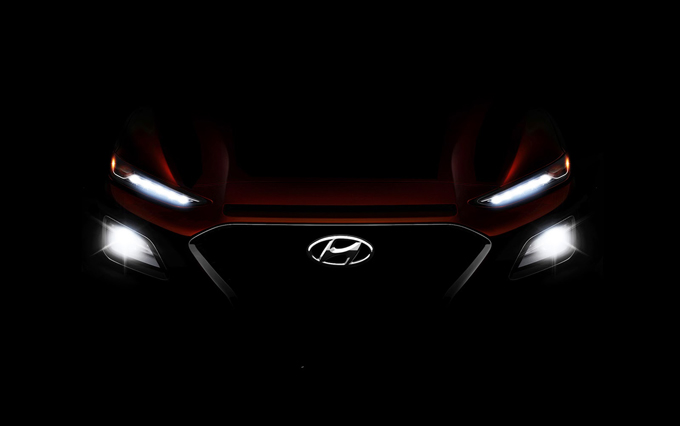 Hyundai Kona: emerge il frontale del nuovo SUV compatto [TEASER]
